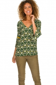 Dante 6 |  Printed top Kiki | green  | Picture 2