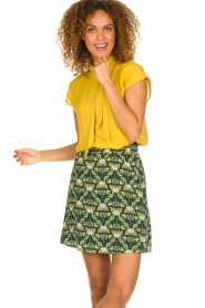 Dante 6 |  Skirt with print Frannie | green  | Picture 2