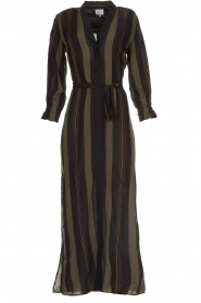 Dante 6 |  Striped maxi dress Arleen | green  | Picture 1