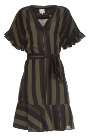 Dante 6 |  Striped dress Ian | green  | Picture 1