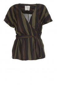 Dante 6 |  Striped wrap top Lucy | green  | Picture 1