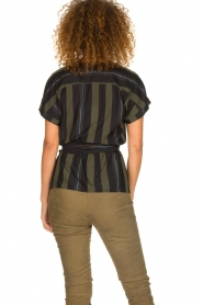 Dante 6 |  Striped wrap top Lucy | green  | Picture 5