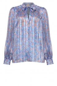 Dante 6 |  Floral blouse Nia | blue  | Picture 1