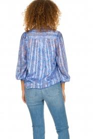 Dante 6 |  Floral blouse Nia | blue  | Picture 5