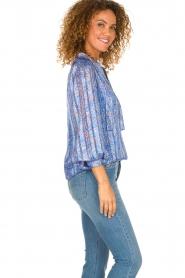 Dante 6 |  Floral blouse Nia | blue  | Picture 4