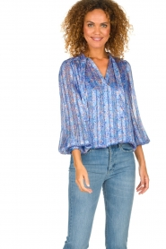 Dante 6 |  Floral blouse Nia | blue  | Picture 2