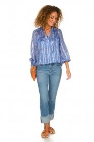 Dante 6 |  Floral blouse Nia | blue  | Picture 3