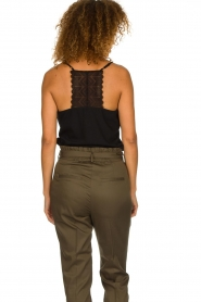 Dante 6 |  Sleeveless top with lace Adella | black  | Picture 6