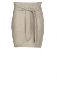 Dante 6 |  Belted leather skirt Abbey | grey  | Picture 1