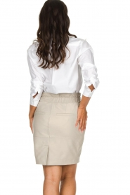 Dante 6 |  Belted leather skirt Abbey | grey  | Picture 5