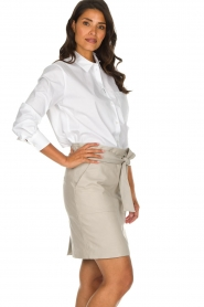 Dante 6 |  Belted leather skirt Abbey | natural  | Picture 4