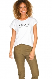 Dante 6    Cotton T-shirt with text print Icon   white    Picture 2