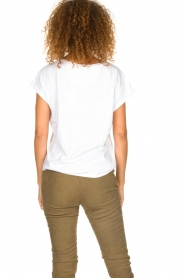 Dante 6 |  Cotton T-shirt with text print Icon | white  | Picture 6