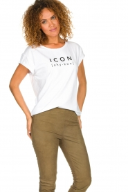Dante 6    Cotton T-shirt with text print Icon   white    Picture 4