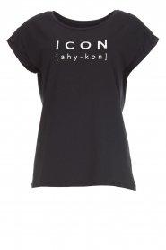Dante 6 |  Cotton T-shirt with text print Icon | black  | Picture 1