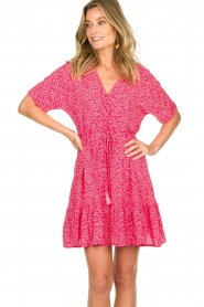 BEACHGOLD | Dress with floral print Betty | pink  | Picture 4