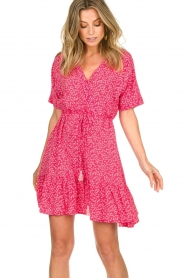 BEACHGOLD | Dress with floral print Betty | pink  | Picture 5
