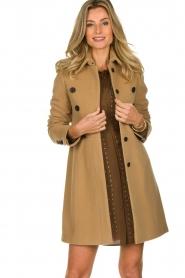 Set |  Woolen coat Martina | camel  | Picture 2