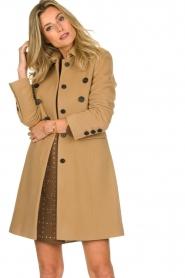 Set |  Woolen coat Martina | camel  | Picture 4