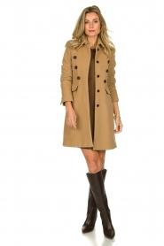 Set |  Woolen coat Martina | camel  | Picture 3