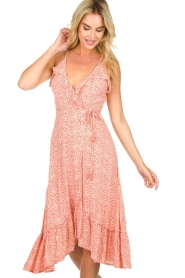 BEACHGOLD | Wrapped dress with dots Lotti | pink  | Picture 2
