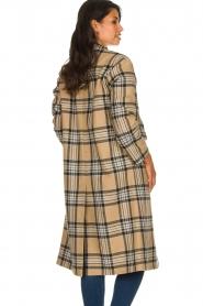 Set    Long checkered coat Myrna   camel    Picture 5