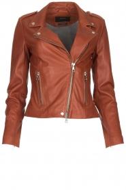 Set    Leather biker jacket Mey   brown    Picture 1