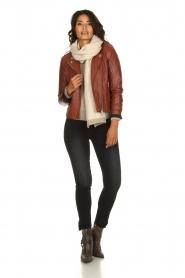 Set    Leather biker jacket Mey   brown    Picture 3