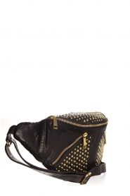 Depeche |  Leather fanny pack with studs Swae | black  | Picture 3