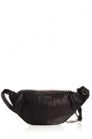 Depeche |  Leather fanny pack with studs Swae | black  | Picture 4
