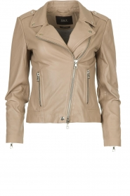 Set |  Leather biker jacket Mey | grey  | Picture 1