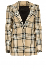 Set |  Checkered blazer Moise | camel  | Picture 1