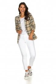 Set |  Checkered blazer Moise | camel  | Picture 3