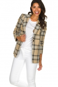 Set |  Checkered blazer Moise | camel  | Picture 5