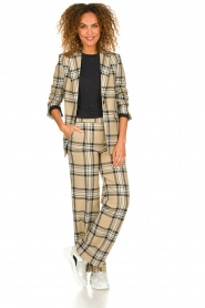 Set |  Checkered blazer Moise | camel  | Picture 4