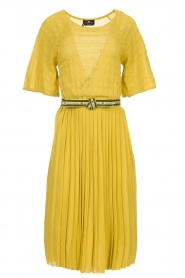 ELISABETTA FRANCHI |  Dress with waistbelt Amie | yellow  | Picture 1
