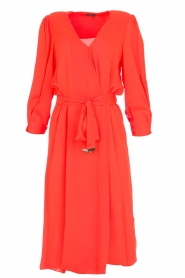 ELISABETTA FRANCHI |  Dress with matching belt Lene | red  | Picture 1