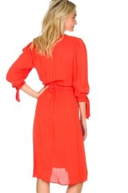 ELISABETTA FRANCHI |  Dress with matching belt Lene | red  | Picture 4