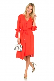 ELISABETTA FRANCHI |  Dress with matching belt Lene | red  | Picture 2