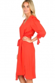 ELISABETTA FRANCHI |  Dress with matching belt Lene | red  | Picture 3