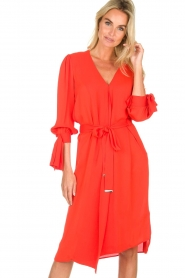 ELISABETTA FRANCHI |  Dress with matching belt Lene | red  | Picture 5