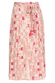 ELISABETTA FRANCHI |  Skirt with letterdesign Peonia | pink  | Picture 1