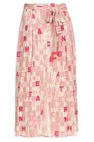 ELISABETTA FRANCHI | Rok met letterdesign Peonia | roze  | Afbeelding 1