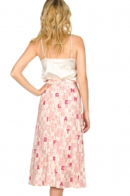 ELISABETTA FRANCHI :  Skirt with letterdesign Peonia | pink - img5