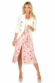 ELISABETTA FRANCHI :  Skirt with letterdesign Peonia | pink - img3