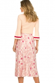 ELISABETTA FRANCHI |  Sweater with stripes Spencer | pink  | Picture 6