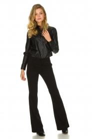 Set |  Leather blouse Marcella | black  | Picture 3