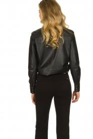 Set |  Leather blouse Marcella | black  | Picture 5