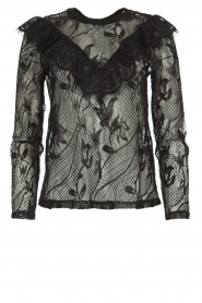 Set |  Lace top with ruffles Muse | black  | Picture 1