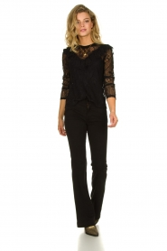 Set |  Lace top with ruffles Muse | black  | Picture 3